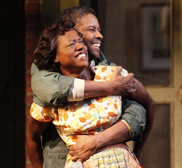 Washington and Davis as Troy and Rose Maxson in the 2010 revival play.